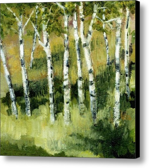 Michelle Calkins - Birches on a Hill Print