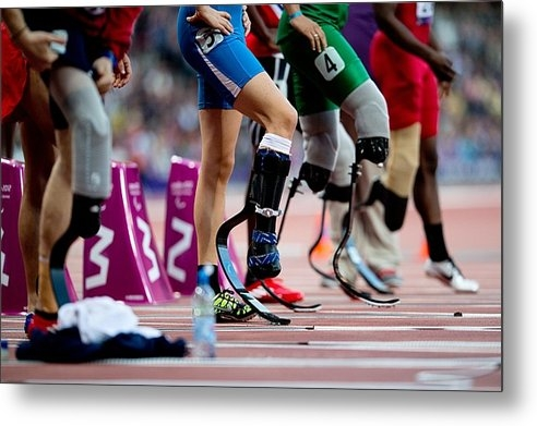 Science Photo Library - Sprinters at start of par... Print
