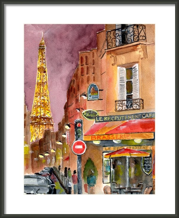 Sheryl Heatherly Hawkins - Evening in Paris Print