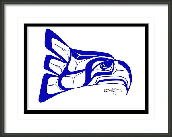 Speakthunder Berry - Salish Seahawks logo Print