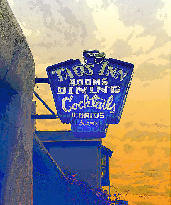 Ann Powell - Taos Inn Sign Print