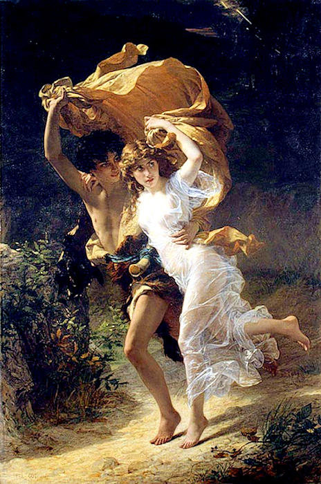 Pierre Auguste Cot - The Storm  Print