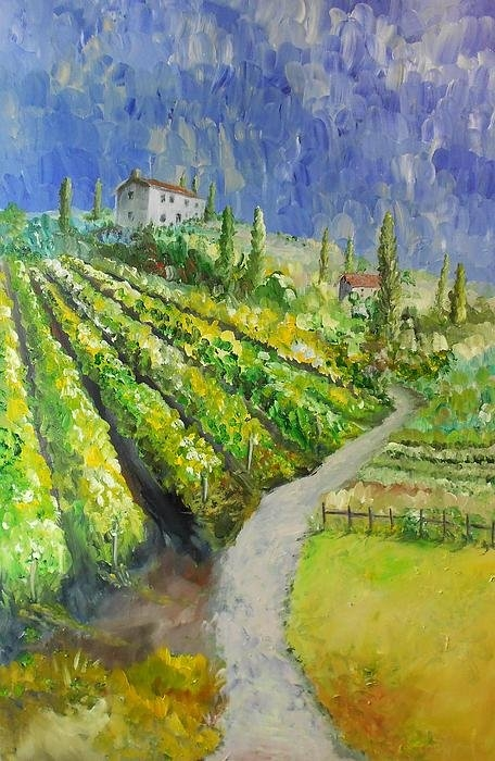 Lesley Anne Cornish - Wine Walk Print