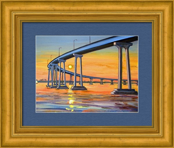 Robert Gerdes - Coronado Bridge at Sunset Print