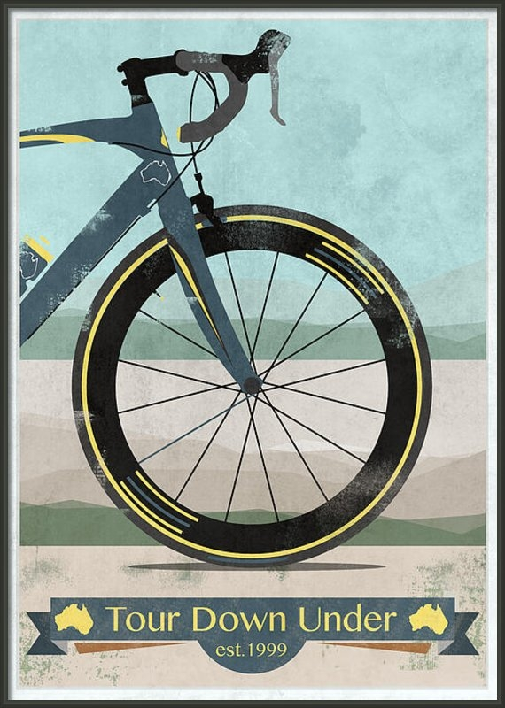 Andy Scullion - Tour Down Under Bike Race Print