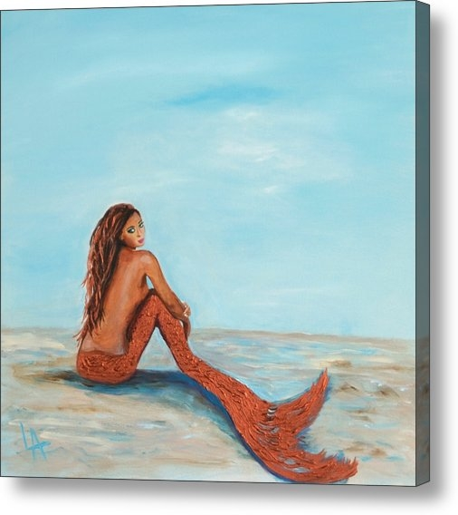Leslie Allen - Captivating Copper Mermai... Print