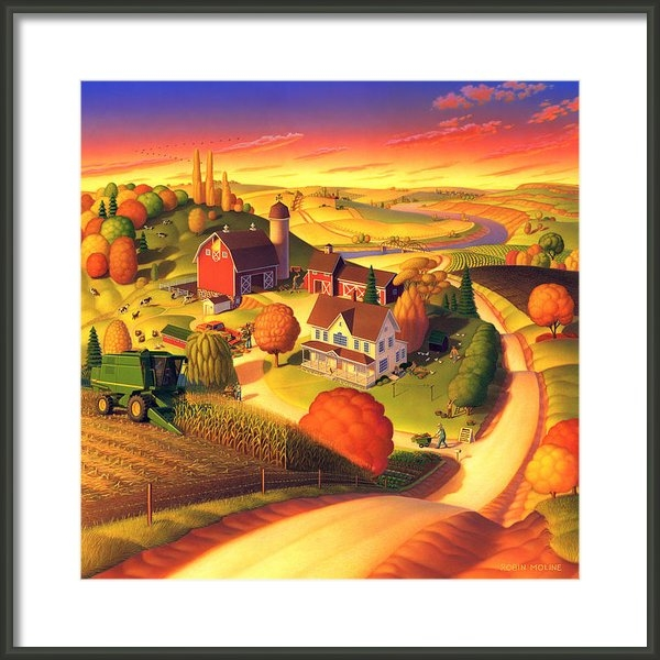 Robin Moline - Fall on the Farm  Print