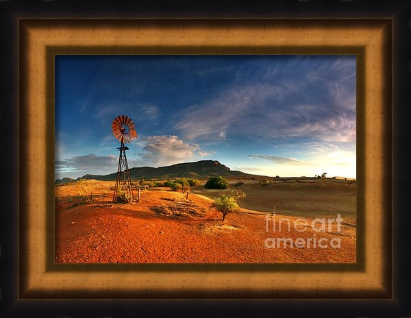 Bill  Robinson - First Light on Wilpena Po... Print