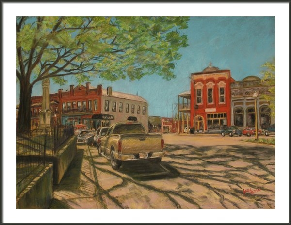 Ann Caudle - Town Square Oxford MS  Print