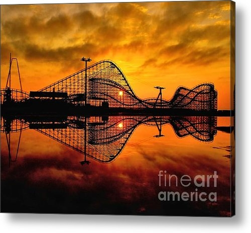 Nick Zelinsky - Adventure Pier at Sunrise Print