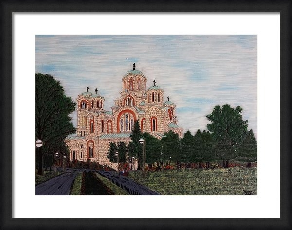 Jasna Gopic - Saint Marko Church  Belgr... Print