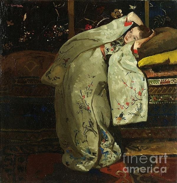 Pg Reproductions - Girl In White Kimono Print