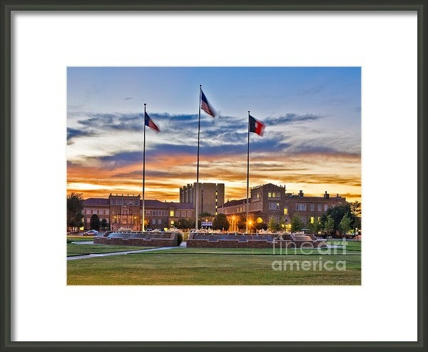 Mae Wertz - Texas Tech Memorial Circl... Print