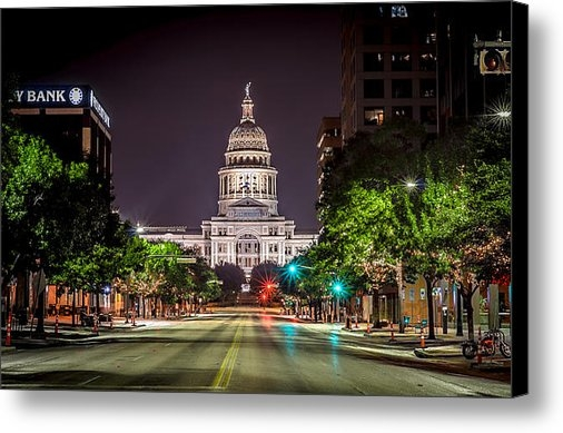 David Morefield - The Texas Capitol Buildin... Print