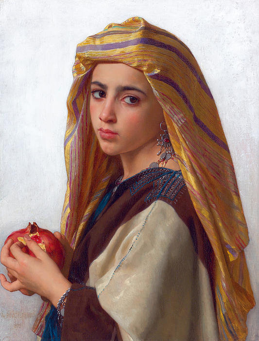 William-Adolphe Bouguereau - Girl with a pomegranate Print