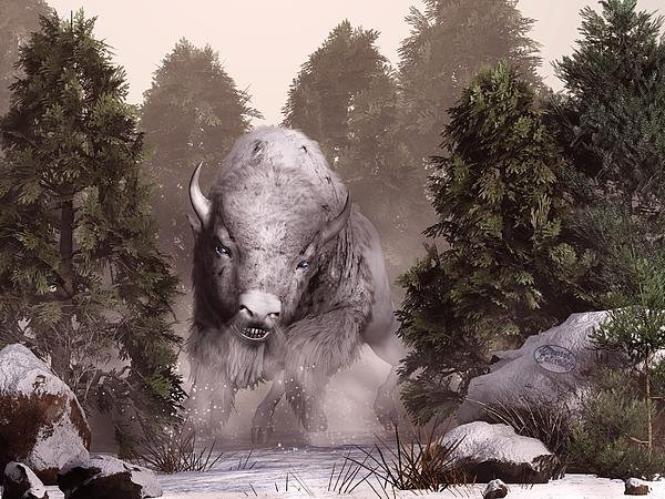 Daniel Eskridge - The White Buffalo Print