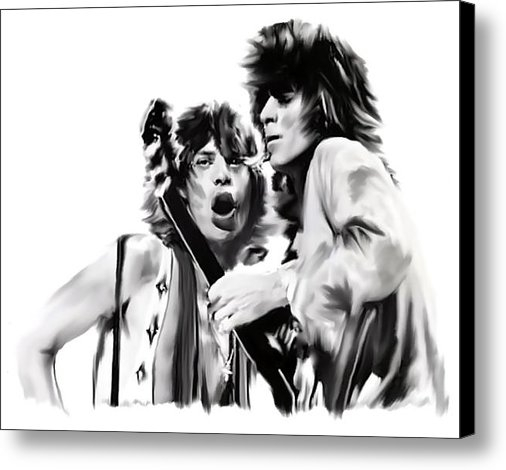 Iconic Images Art Gallery David Pucciarelli - Exile  Mick Jagger and Ke... Print