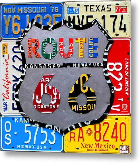 Design Turnpike - Route 66 Highway Road Sig... Print