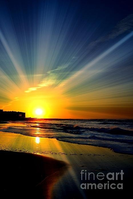 Scottys Photography - Sunrise On Sand Print