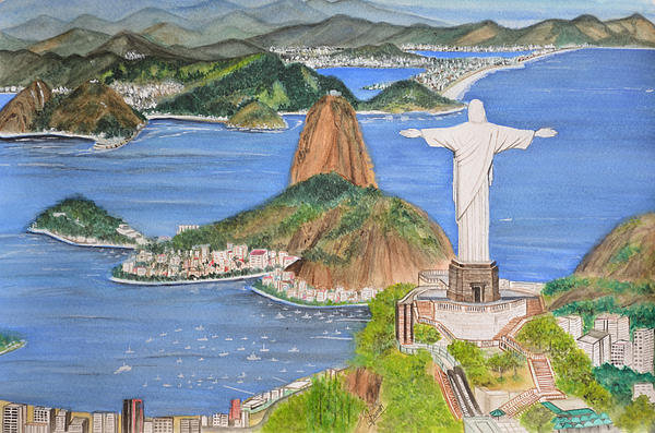Swati Singh - Christ the Redeemer Print