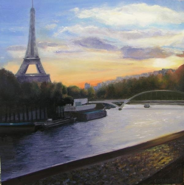 Gail Eisenfeld - By The Seine Print