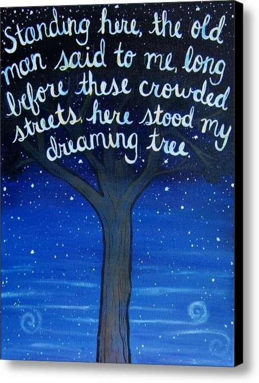 Michelle Eshleman - Dreaming Tree Lyric Art Print