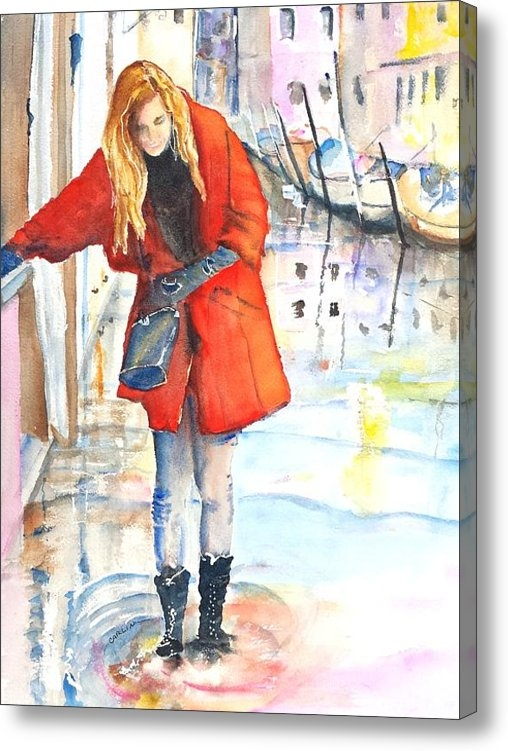 Carlin Blahnik - Young Woman Walking along... Print