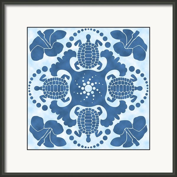 Alison Stein - Hybiscus and Turtle Hawai... Print