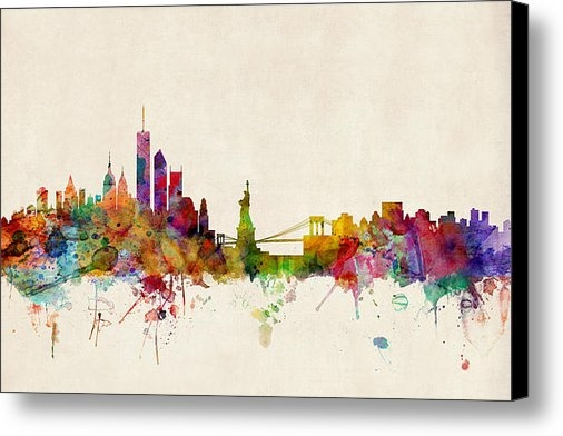 Michael Tompsett - New York Skyline Print