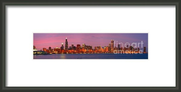 Jon Holiday - Chicago Skyline at DUSK 2... Print