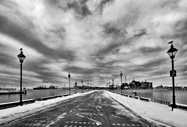 SCB Captures - Gray Sky Over Fells Point... Print