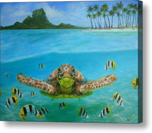 Jennifer Belote - Bora Bora turtle Print