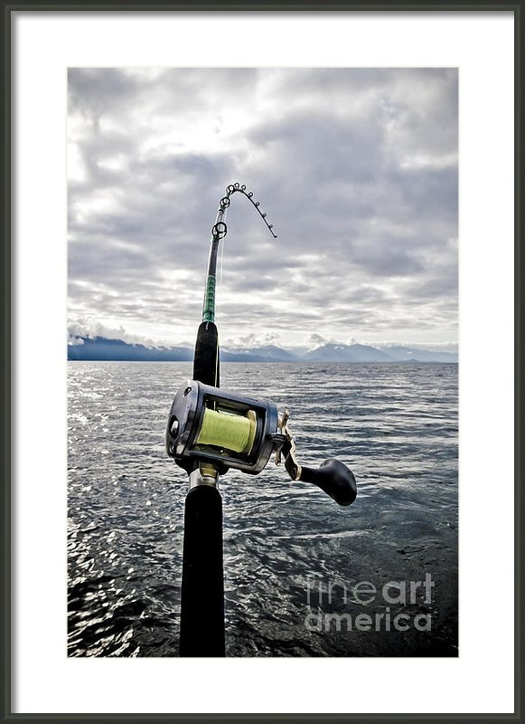 Darcy Michaelchuk - Salmon Fishing Rod Print