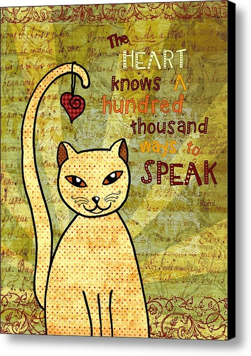 Cat Whipple - Rumi Cat Heart Print