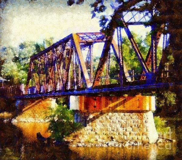 Janine Riley - Train Trestle Bridge Print
