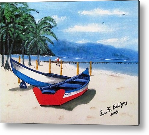 Luis F Rodriguez - Yolas At Crashboat Beach Print
