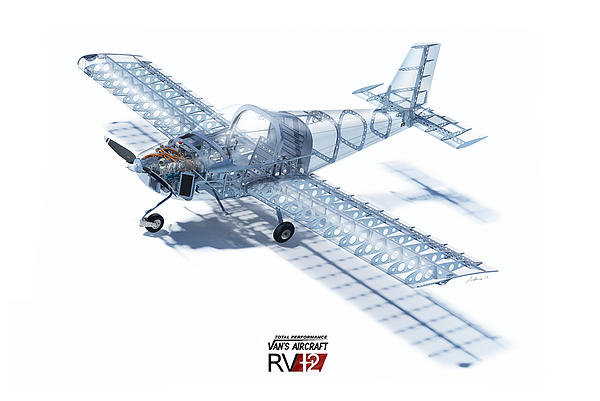 Hangar B Productions - RV-12 Cutaway with Logo Print