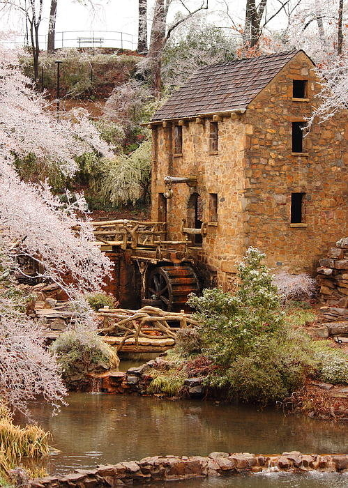 Karen Beasley - Wintertime at Old Mill Print