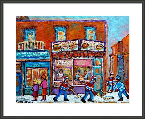 Carole Spandau - Decarie Hot Dog Restauran... Print