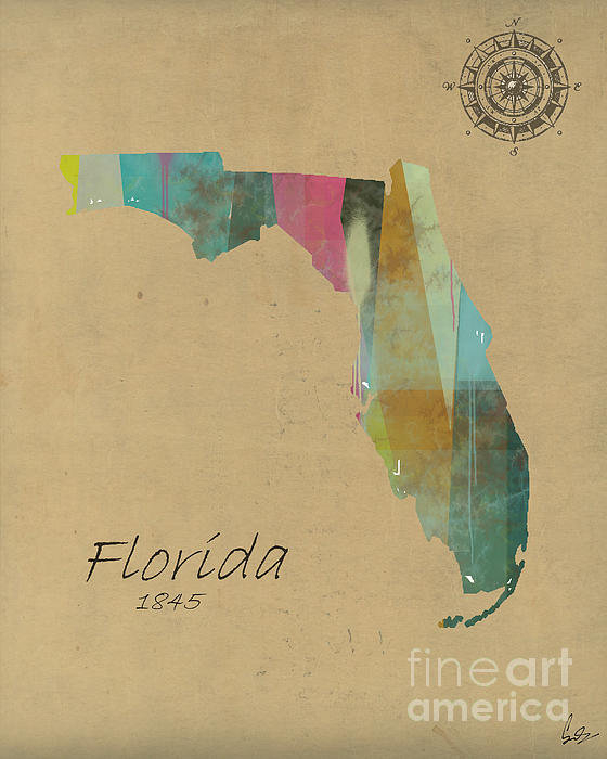 Bri Buckley  - Florida State Map Print