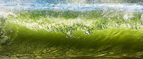Scott Geib - Emerald Wave Print