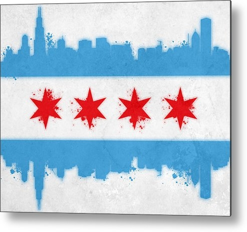 Mike Maher - Chicago Flag Print