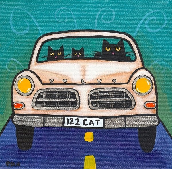 Ryan Conners - Volvo Cats Print