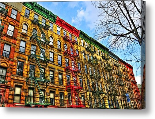 Randy Aveille - East Village Buildings on... Print