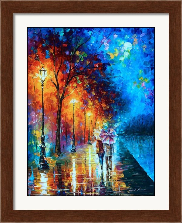Leonid Afremov - Love By The Lake Print