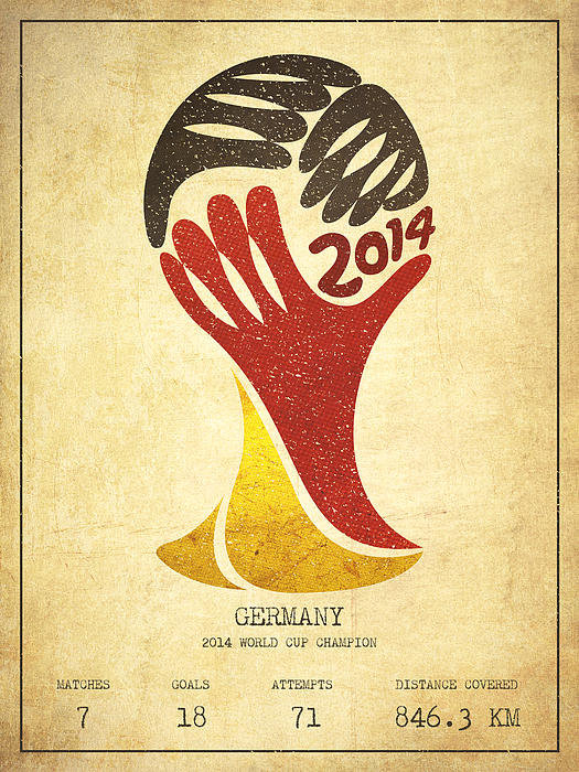 Aged Pixel - Germany World Cup Champio... Print