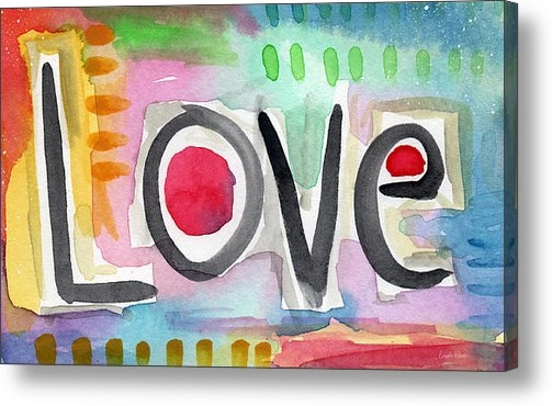 Linda Woods - Colorful Love- painting Print