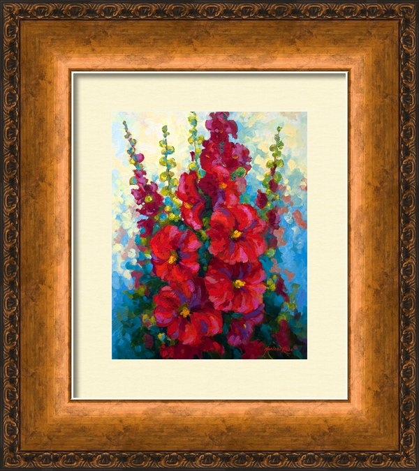 Marion Rose - Hollyhocks Print