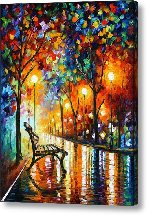 Leonid Afremov - Loneliness Of Autumn Print