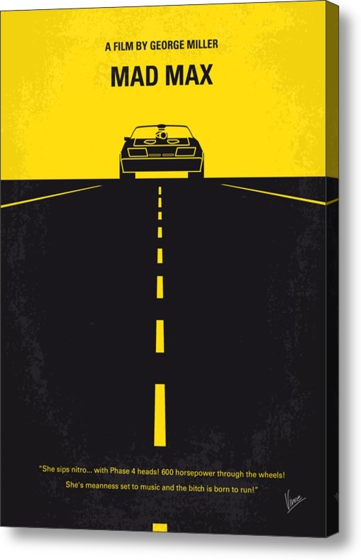 Chungkong Art - No051 My Mad Max minimal ... Print